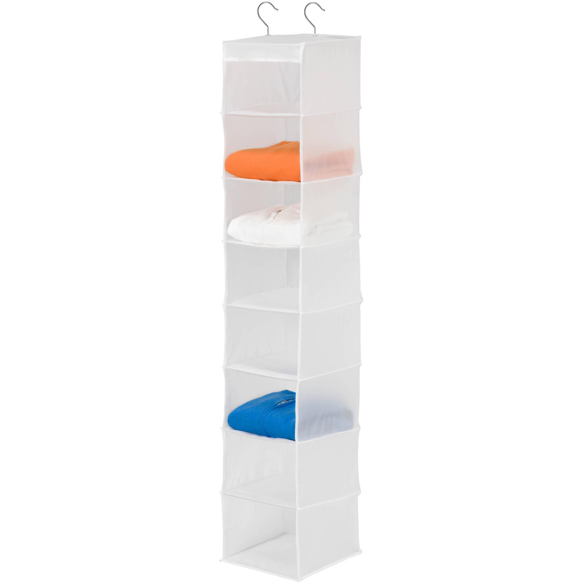 Honey Can Do 8-Shelf PEVA Hanging Organizer, White
