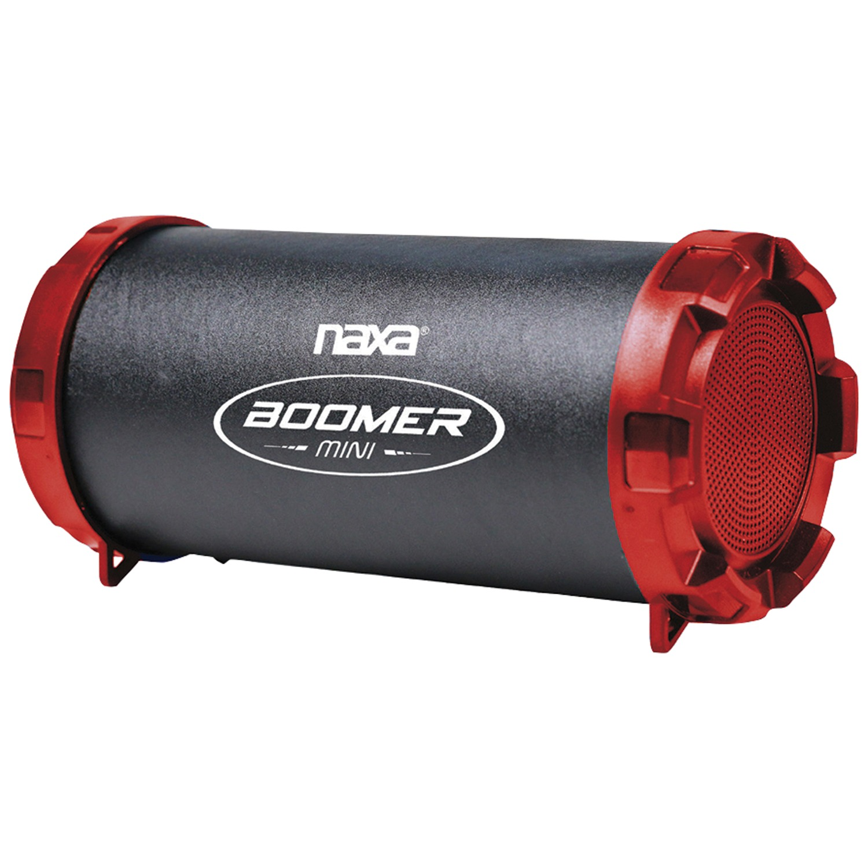 Naxa NAS-3091 RED BOOMER MINI Portable Bluetooth Speaker (Red)