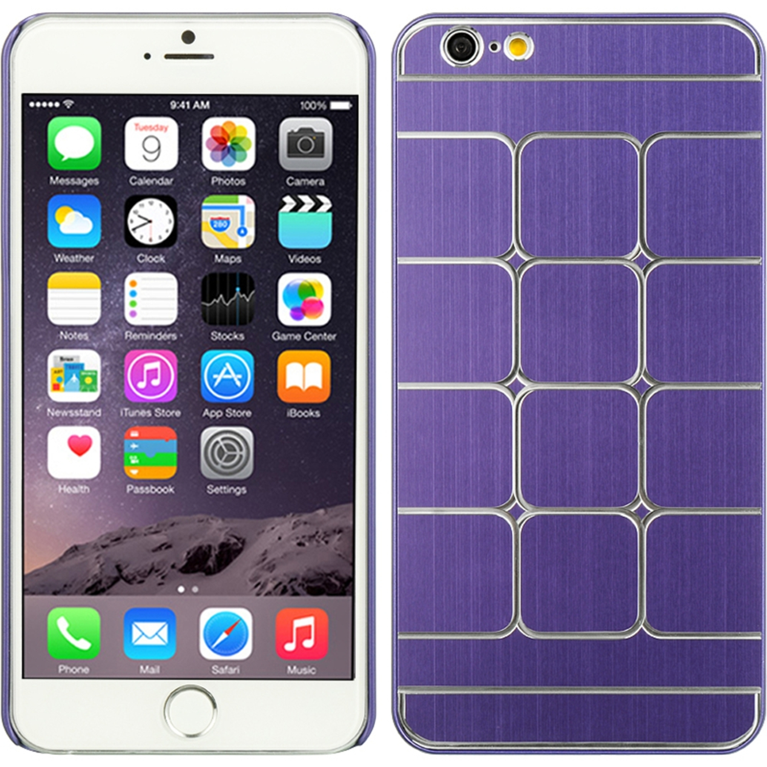 iPhone 6s Plus, iPhone 6 Plus Case, by Insten Squares Rubberized Hard Snap-in Case Cover For Apple iPhone 6 Plus