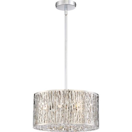 (Quoizel Platinum Grotto 6 Light Pendant in Polished Chrome)