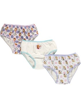 "Frozen Little Girls' ""Snowflakes"" 3-Pack Panties (Sizes 4 - 6X)"