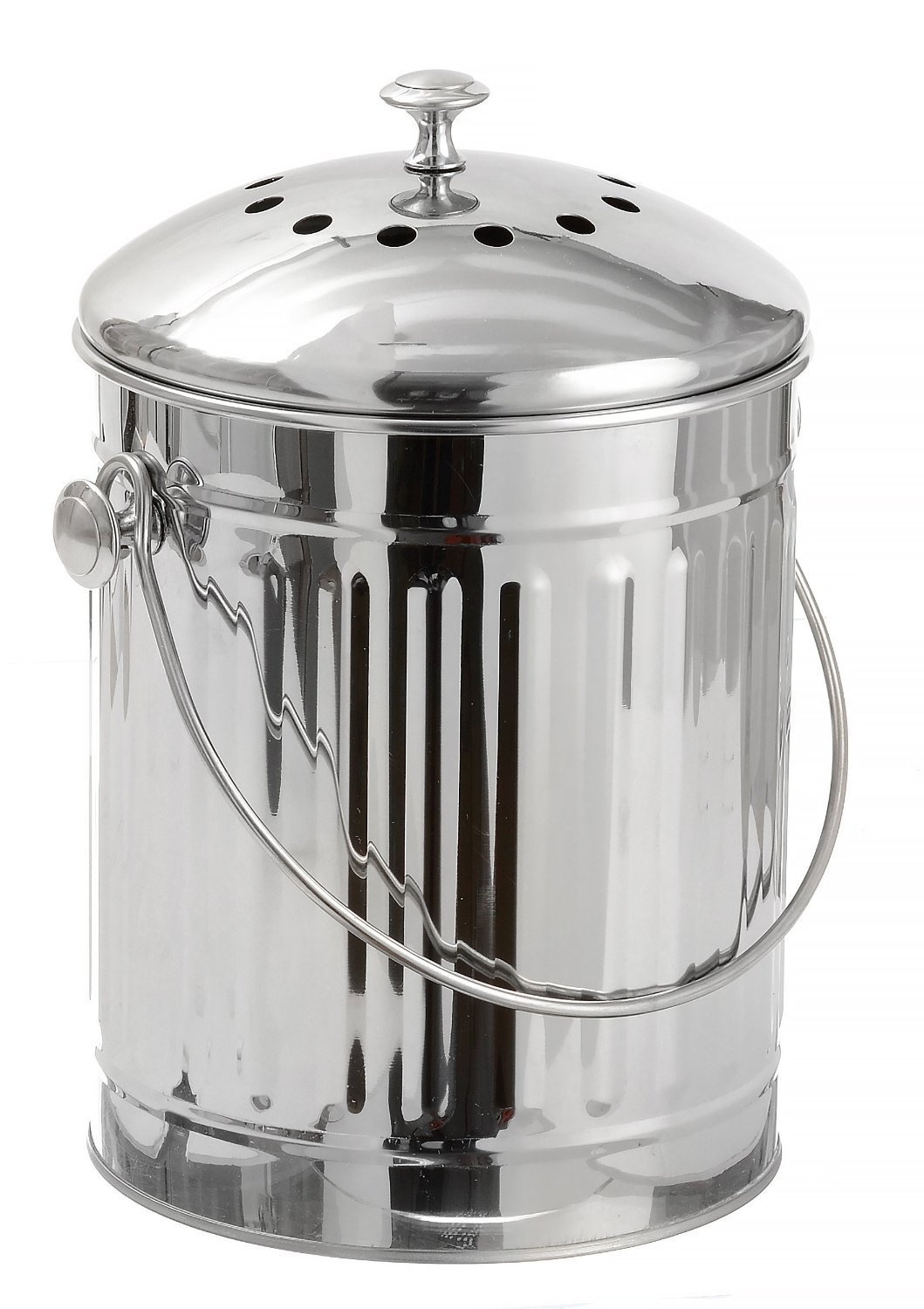 Compost Bin 1 Gallon Stainless Steel by Sagler