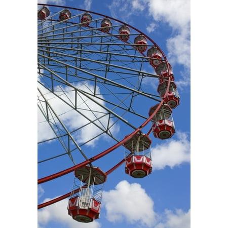 A Large Red Ferris Wheel Newcastle Upon Tyne England Canvas Art - Christine Giles  Design Pics (24 x 36)](Ferris Wheel Centerpiece)