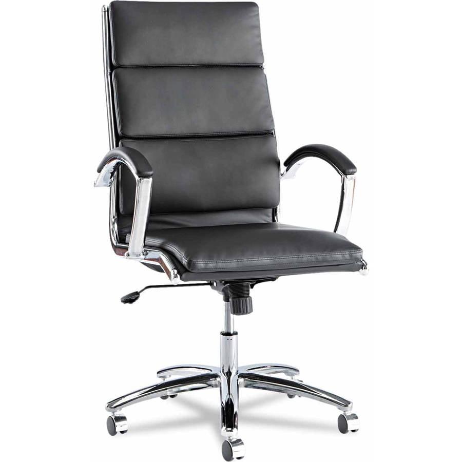 Alera Neratoli Series High-Back Swivel/Tilt Chair, Chrome Frame