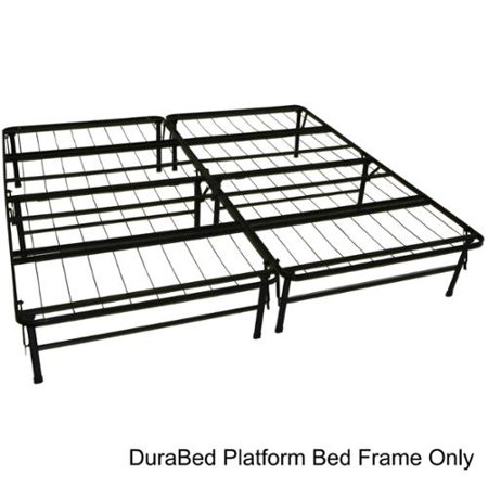 Durabed King Size Heavy Duty Steel Foundation Frame In One
