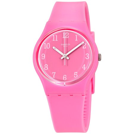 Swatch Originals Pinkway Pink Dial Silicone Strap Unisex Watch GP156