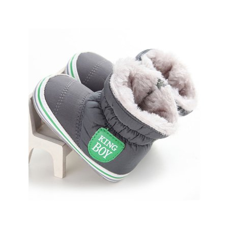 Babula Baby Girl Boy Winter Warm Soft Fur Snow Crib Shoes Boots 0-18M