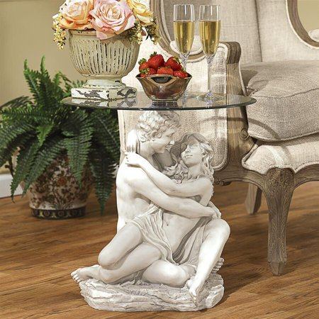 Design Toscano In the Arms of Romance Occasional Table Heart Shaped Occasional Table