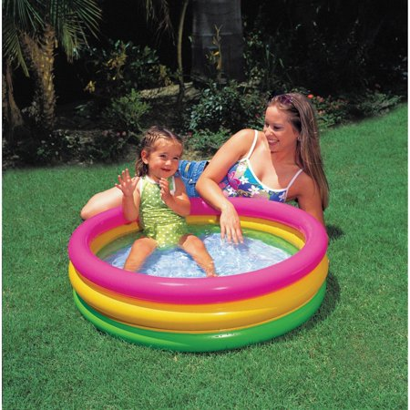 Intex sunset glow inflatable colorful baby swimming pool multicolored 58924ep Intex inflatable swimming pool