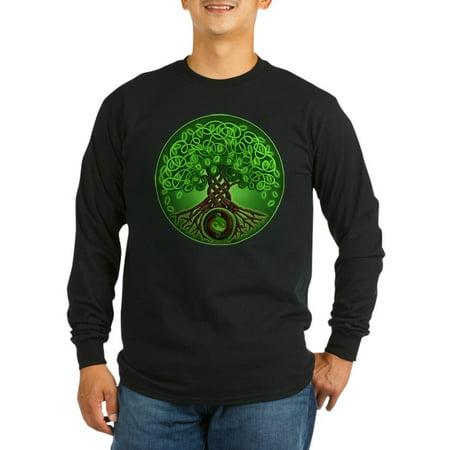 CafePress - Circle Celtic Tree Of Life Long Sleeve Dark T-Shir - Long Sleeve Dark T-Shirt
