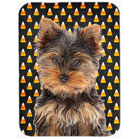 Candy Corn Halloween Yorkie Puppy & Yorkshire Terrier Mouse Pad, Hot Pad or Trivet](Yorkshire Halloween)