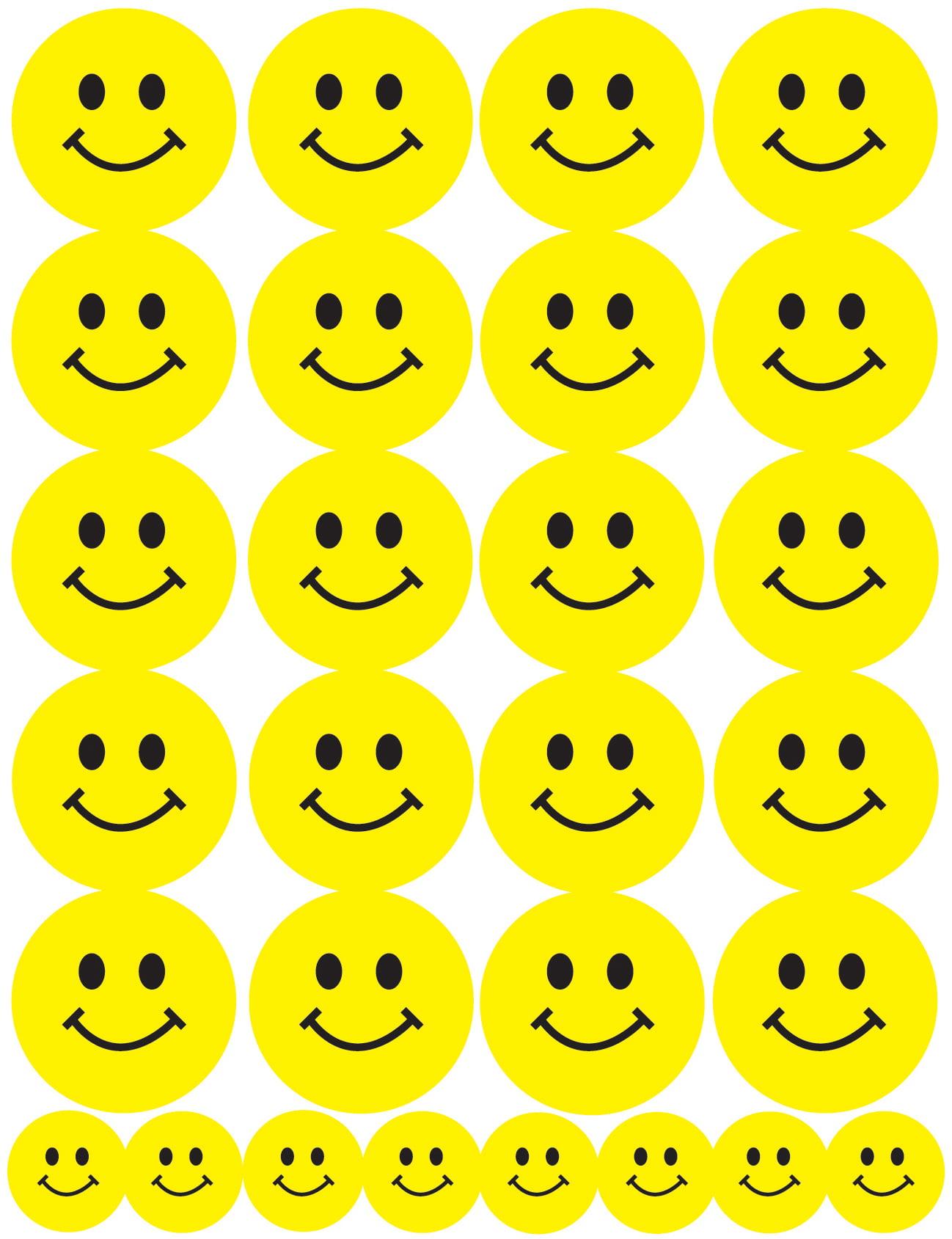 Sticker Forms 3 Sheets/Pkg-Smiley Faces - Walmart.com
