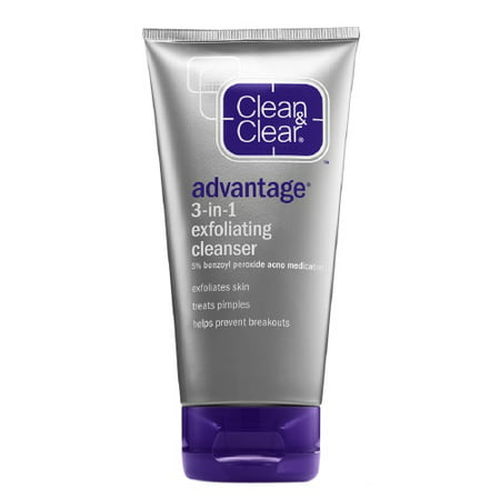 Clean And Clear Advantage 3 In 1 Exfoliating Acne Cleanser   5 Oz  2 Pack