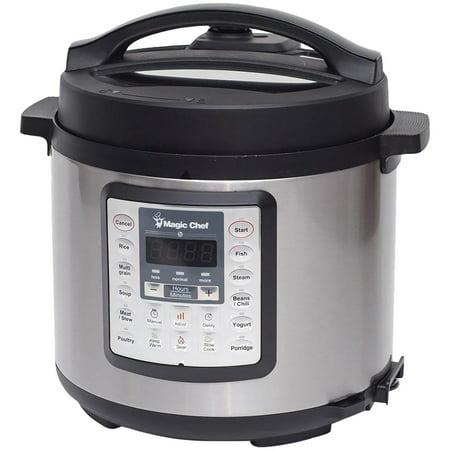 Magic Chef MCSMC10S7 6-Quart 7-in-1 Stainless Steel Multicooker