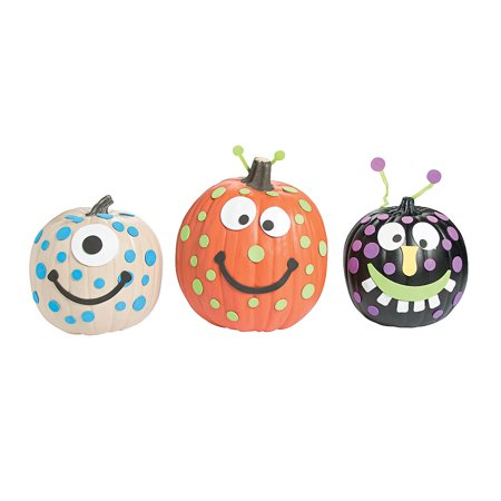 Fun Express - Foam Monster Pumpkin Decorating Kit for Halloween - Craft Kits - Home Decor Craft Kits - 3 - D Tabletop - Halloween - 12 Pieces - Creatology Halloween Foam Kit