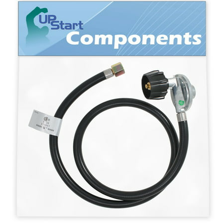 BBQ Gas Grill Propane Regulator Hose Replacement Parts for Weber SUMMIT S-470 LP (2009) - Compatible Barbeque 41 Inch Regulator and Hose