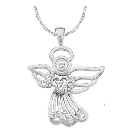 gold com guardian l jewelry pendant dp with amazon necklace angel prayer yellow
