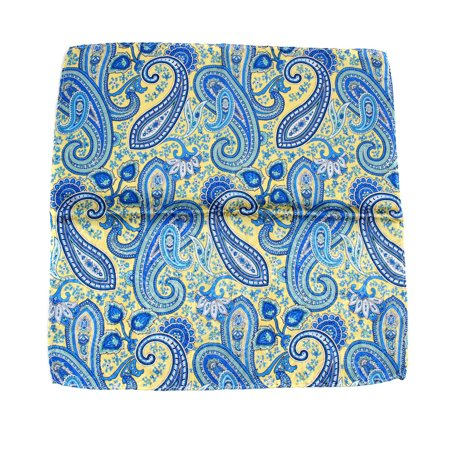 Yellow Silk Pocket Squares - BuyYourTies - PS-Z-126 - Mens Aficionado Silk Pocket Square - Yellow Green