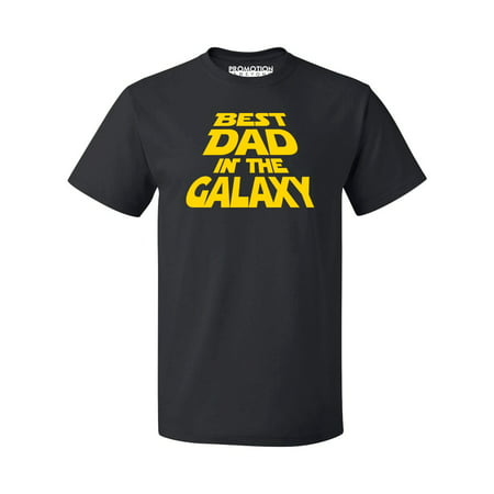 P&B Best Dad In The Galaxy Men's T-shirt, Black, (Best P&b Dad Grandpas)