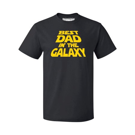 P&B Best Dad In The Galaxy Men's T-shirt, Black,