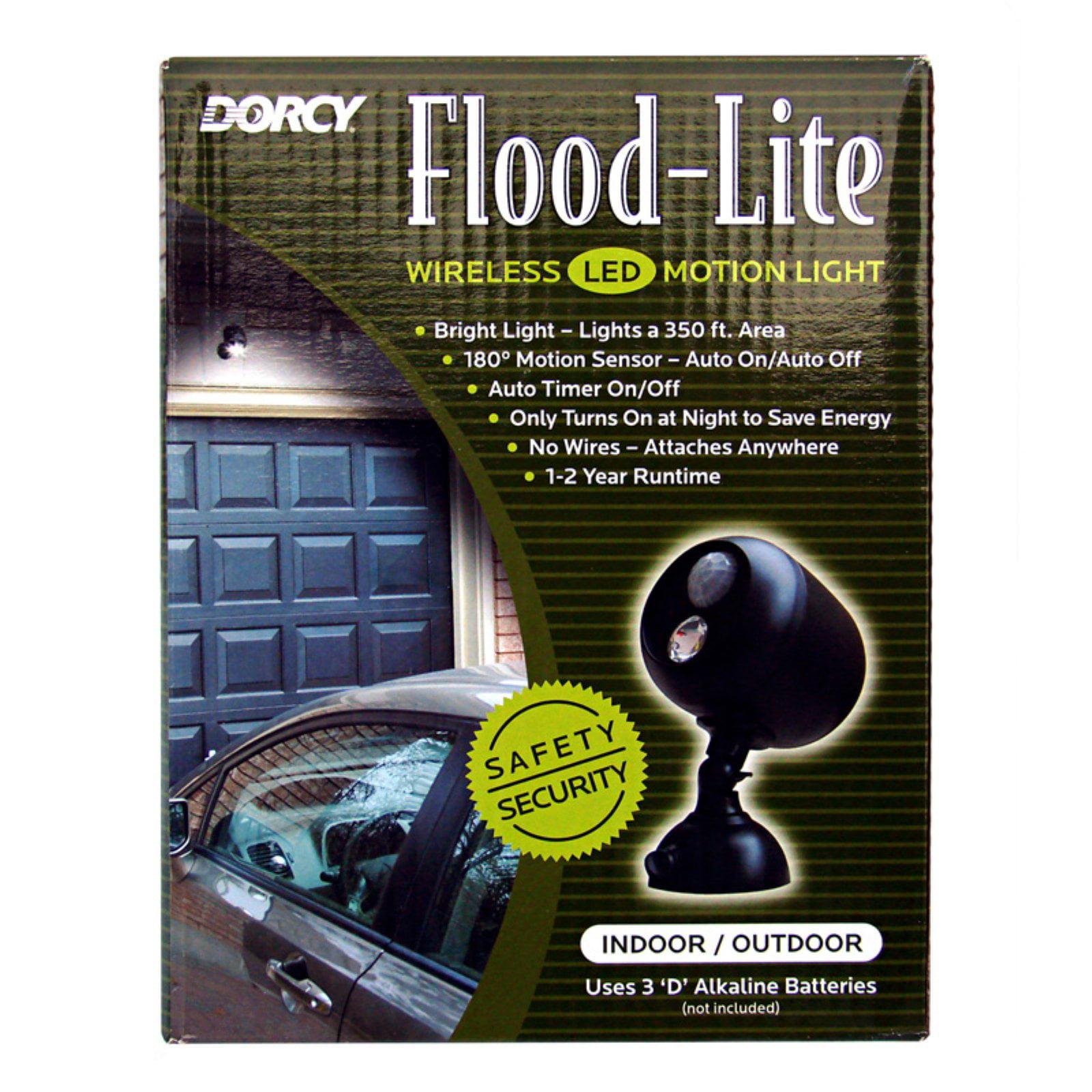Dorcy 41 1071 180 Degree Wireless Motion Sensing Led Flood Light Switch Timer No Wiring