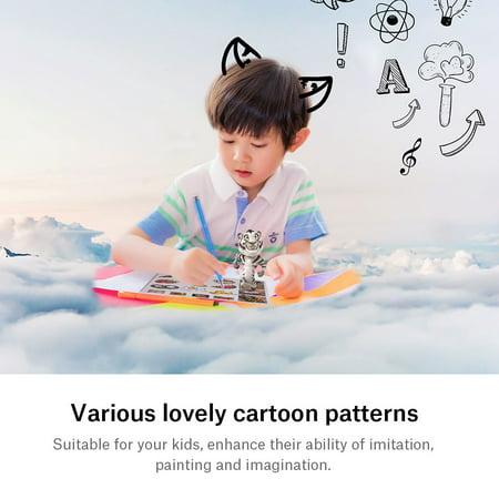 Fyydes Papier de modèle de bricolage, papier de modèle pour les enfants, 20pcs 3D Pen Printing Paper Painting Graffiti Template 40 Cartoon Patterns for Kids DIY - image 2 de 8