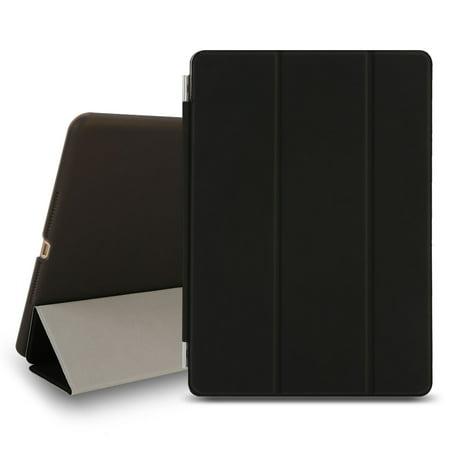 Ipad 2 Smart Leather (TKOOFN iPad Case for Apple iPad iPad 6 Air 2 Magnetic Leather Ultra Slim Light Weight Trifold Smart Cover )