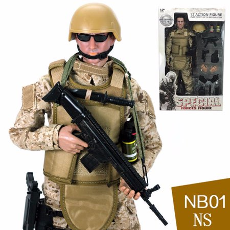 Desert Camo Ultra Detailed Military Combat Action Figure](Military Action Figures)