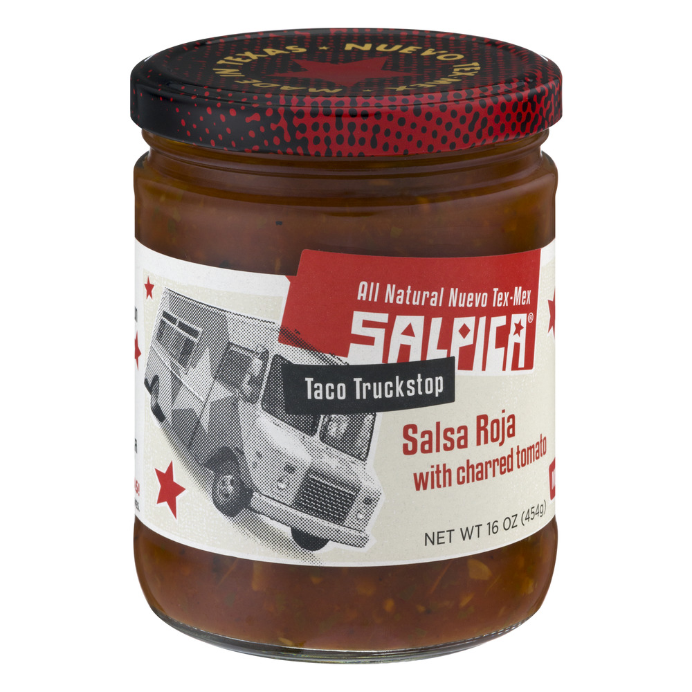 Salpica Salsa Roja with Charred Tomato, 16 oz