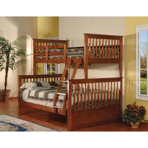 K and B Furniture Co Inc Esprit Walnut Finish Twin/Full Bunk Bed