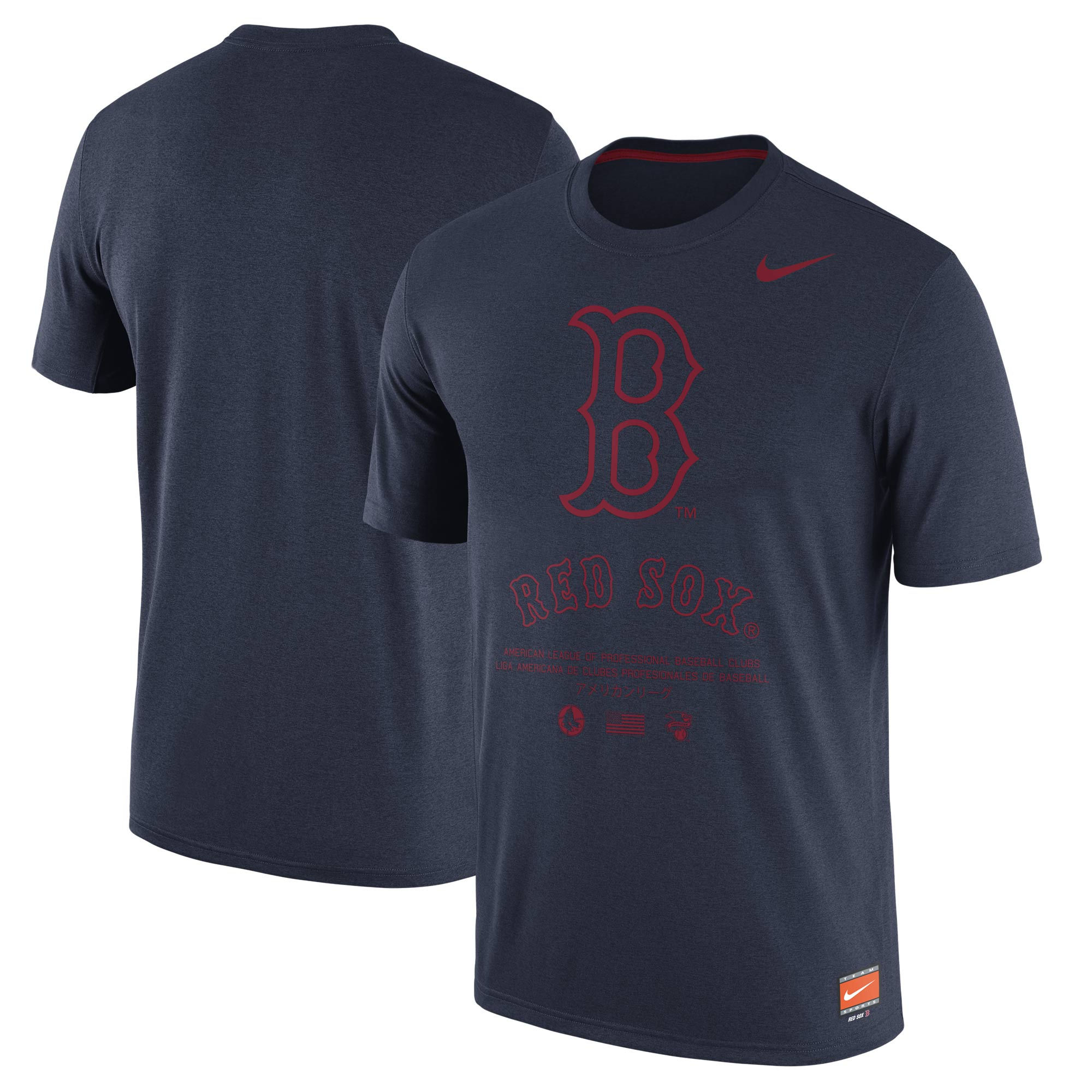 Men's Nike Navy Boston Red Sox Cooperstown Collection Legend Gym Issue 1.7 Performance T-Shirt