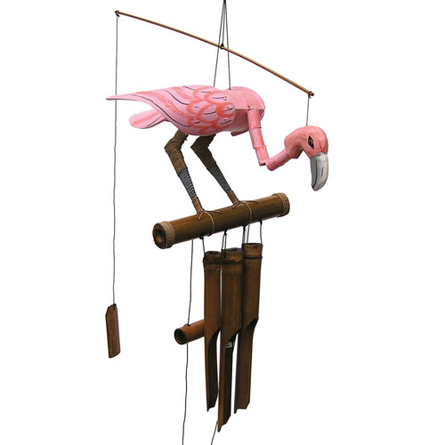Cohasset Imports Pink Flamingo Wind Chime