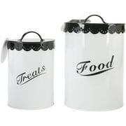 Food & Treat Canister Set -Black