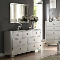 Acme Furniture Voeville II Platinum 7 Drawer Dresser with Optional Mirror