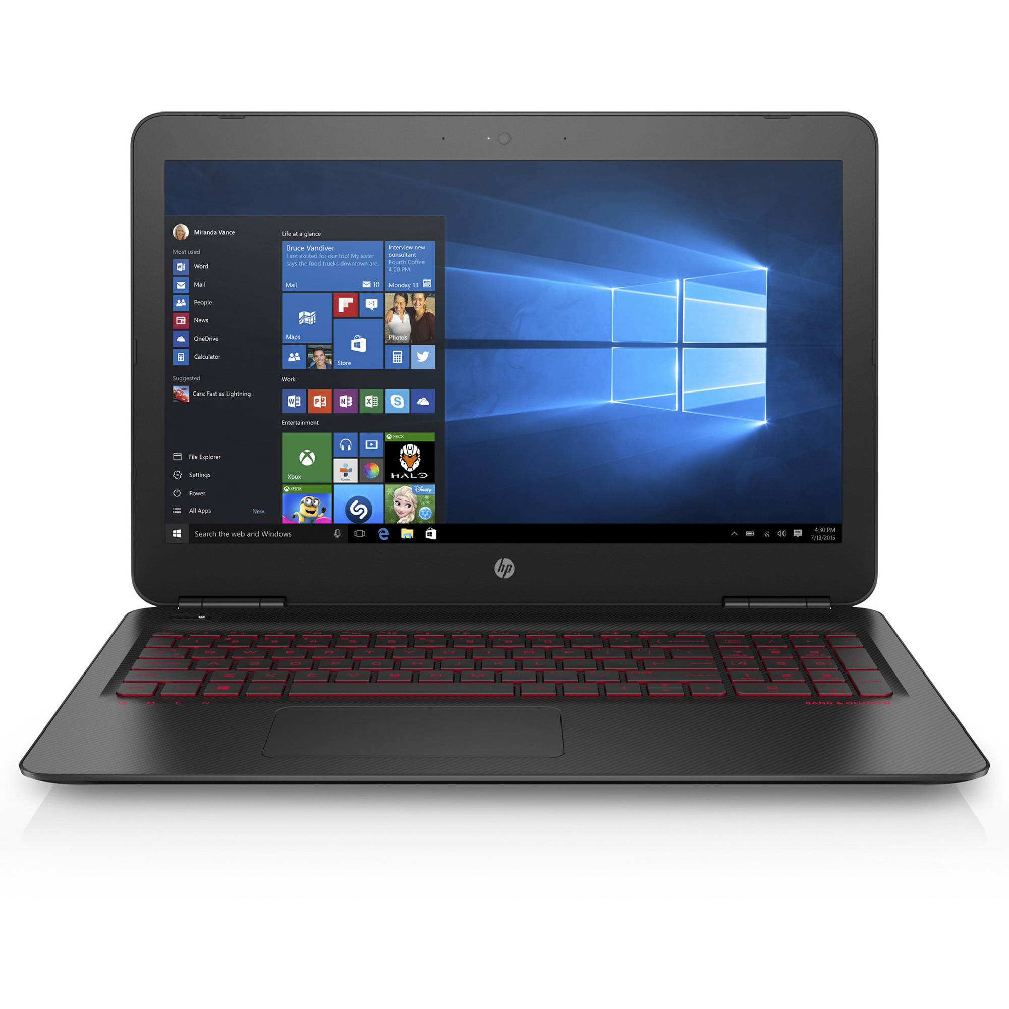 "HP Omen Laptop 17.3"" FHD Screen, Intel Core i7-7700HQ, 2.8GHZ, NVIDIA GeForce GTX 1050Ti 4GB GDDR5 Graphic Card, 8GB DDR4, 1TB HD 128GB SSD, Windows Home 10, HP 17-W210Nr"