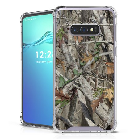 Beyond Cell AquaFlex Series Compatible with Samsung Galaxy S10e, Shockproof Reinforced TPU Transparent Phone Case and Atom Cloth - Camo