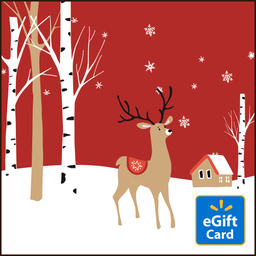 Red Reindeer Walmart eGift Card