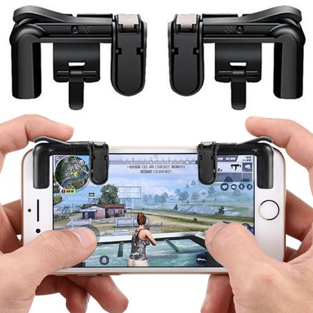 Agoz Phone Game Controller Fire Button L1R1 Shoot Aim Trigger for PUBG Mobile Gaming Joystick for Apple iPhone, Samsung Galaxy, Google Pixel, LG, Motorola, ZTE, OnePlus