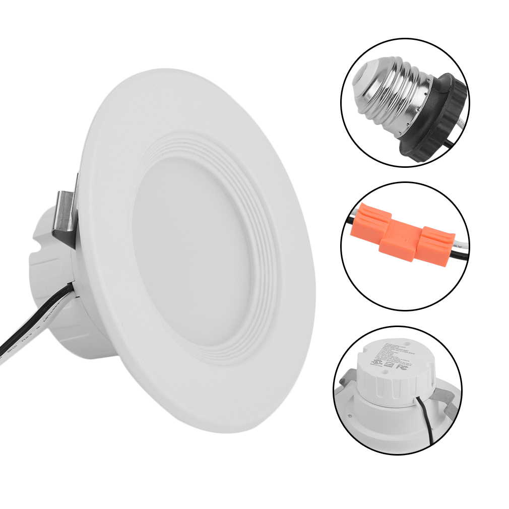 4 Inch 12pcs Adjustable Super Bright DownLight 9W LED Recessed Trim Dimmable Round Panel Light Decoration Ceiling Lamp by