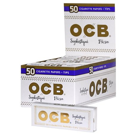 Ocb Rolling Papers - 24pc Display - OCB Sophistique 1-1/4 Rolling Papers & Tips