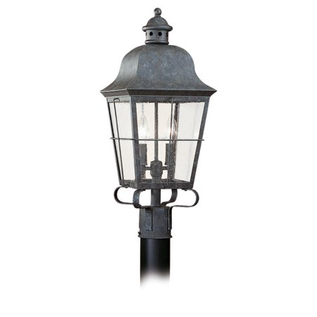Sea Gull Lighting 8262 Colonial Styling 2 Light Outdoor Lantern Post