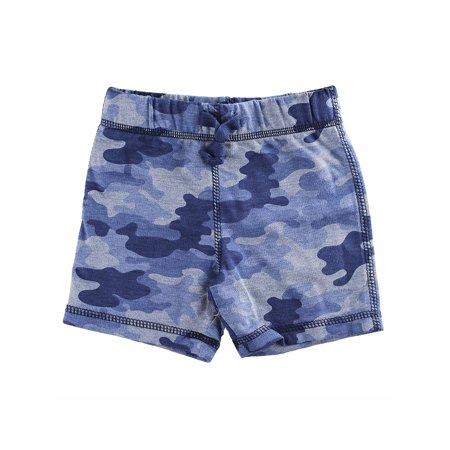 - First Impressions Baby Boys Blue Camo-Print Shorts