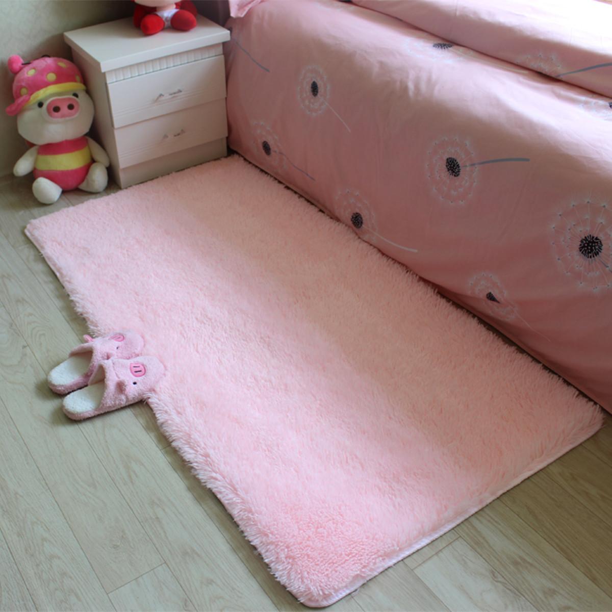 ❤ 60x120cm ❤ Anti-skid Shaggy Area Rug Dining Room Carpet Fluffy Rectangle Floor Rug Yoga Bedroom Floor Mat / Cover Child Play Mat Parlor Bedroom Decor 13 colors