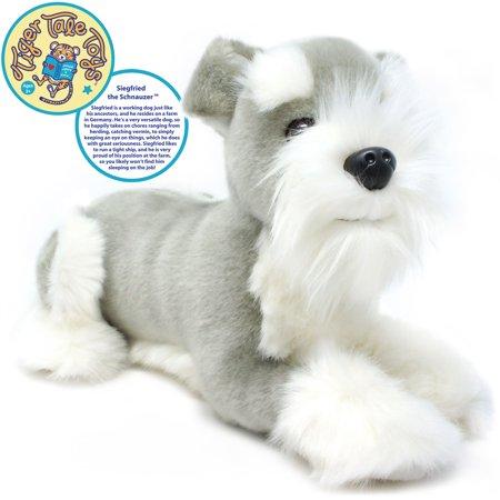 Siegfried the Schnauzer | 12 Inch Stuffed Animal Plush Dog | By Tiger Tale Toys