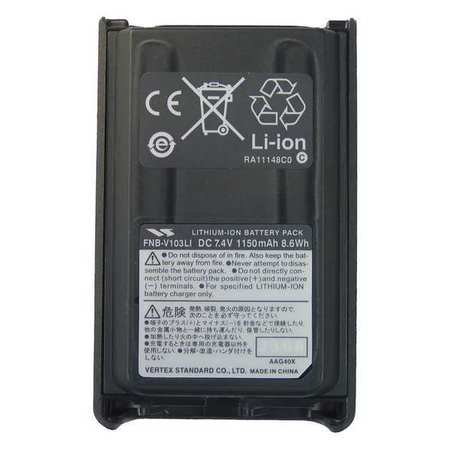 Vertex Standard Lithium Ion Battery 7 4V For Vertex Fnbv103li