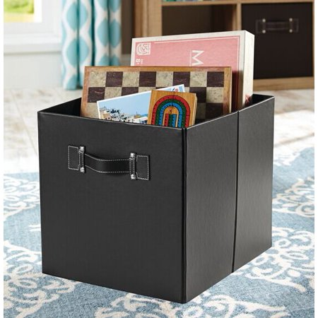 Better Homes Gardens Faux Leather Collapsible Storage Bin