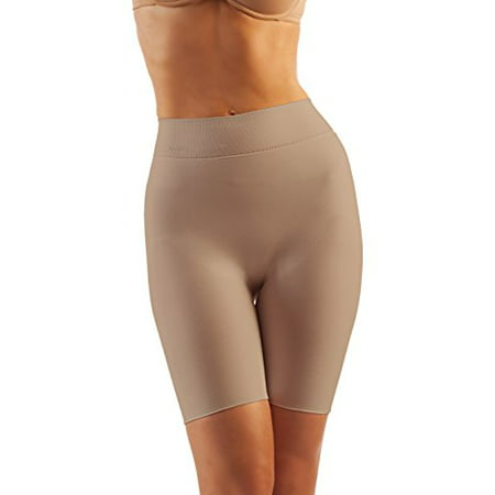 Post Surgical Compression Garments (Tummy Flatting & Butt enhancing Compression Shorts. For Slimmer Look & After Cosmetic Surgery. Post-Op Garments. Fine Italian Made Quality & Style. (Medium Nude) )