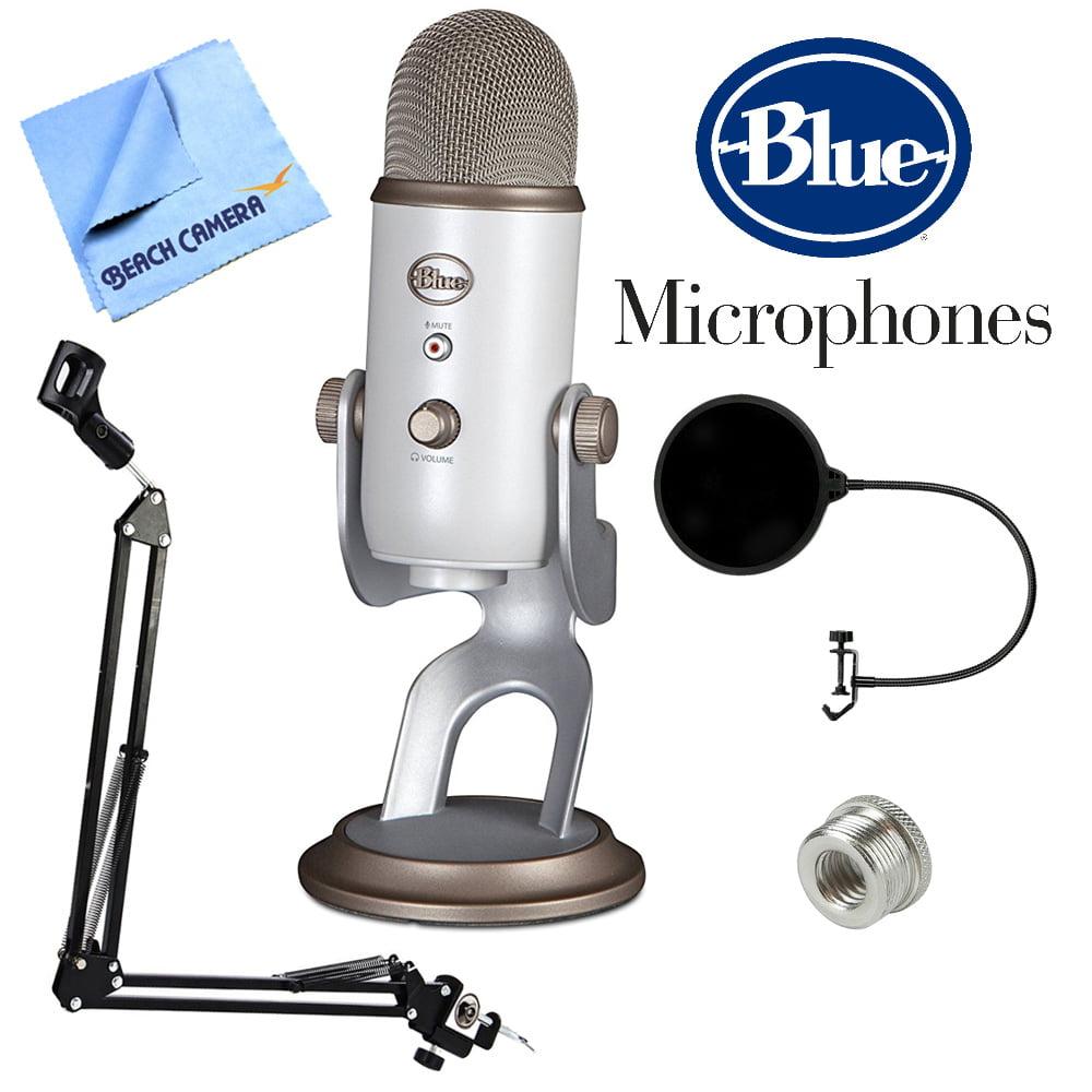 BLUE MICROPHONES Yeti USB Microphone Four Pattern Vintage White (Yeti Vintage White) +... by Blue Microphones