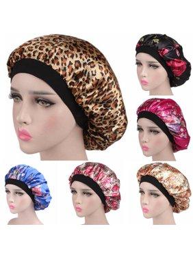 Multitrust Silk Night Sleep Cap Hair Care Bonnet Hat Head Cover Satin Wide Elastic Band