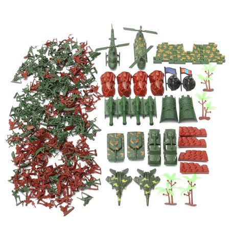 270 pcs Military Playset Plastic Toy Soldier Army Men 4cm Figures & Accessories - image 6 of 12